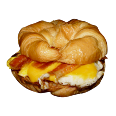 BACON EGG N CHEESE ON CROSAINT